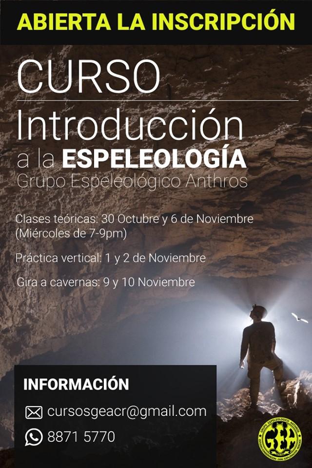 Curso de Introducción a la Espeleología 2019